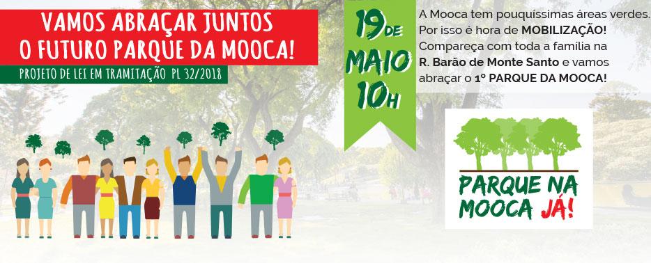Dia 19 de maio terá o Grande Abraço para o 1ºParque na Mooca